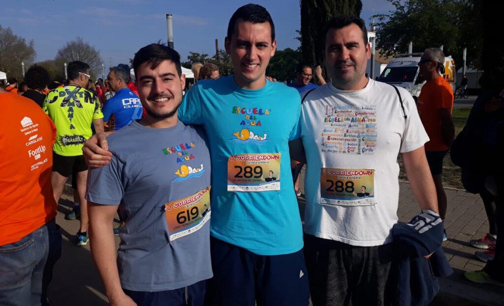 La Escuela del Agua se vuelca un año más con la carrera solidaria «Corriendown Sevilla»